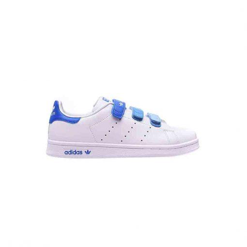 کفش استن اسمیت چسبی سفید آبی